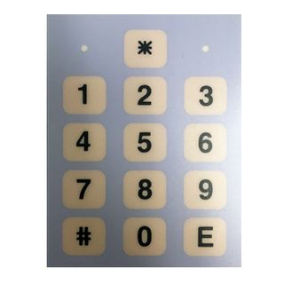 NIDAC (Presco), Code Pad Button Overlay  (LED on either side of * button)