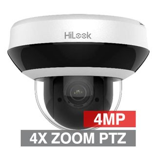 "HILOOK, HD-IP PTZ Dome camera, 4x Zoom (2.8 - 12mm lens), 4.0MP/Full HD 1080p, 1/3"" CMOS, 0.005Lux (sens-up), H.265/H.265+, IP66, IK10, 12V DC/POE,"
