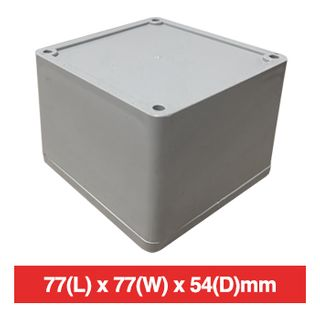 NETDIGITAL, Plastic Enclosure, Grey, 77(L)  x 77(W) x 54(D) (internal measurements) IP56, Screw down lid,