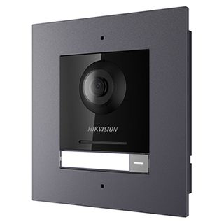 HIKVISION, 8000 Series 2, Door station, Aluminium, Flush mount, Includes 2MP camera, 180 degree view, WDR, IR, Ethernet, RS-485, IP65, 12V DC, POE,