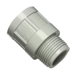CLIPSAL, 20mm, PVC adaptor, Plain to screw,