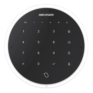 HIKVISION, Axiom Series, Wireless Touch Keypad and Tag reader, White, Card Arm/DisarmTwo-way wireless 433MHz, Stay/Away/Disarm, Clear, 4x AA batteries, suits AX Series panels,