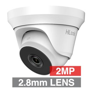 HILOOK, 2MP Analogue HD Outdoor Turret camera, White, 2.8mm fixed lens, 40m IR, TVI/AHD/CVI/CVBS, DWDR, Day/Night (ICR), IP66, Tri-axis, 12V DC, 4W