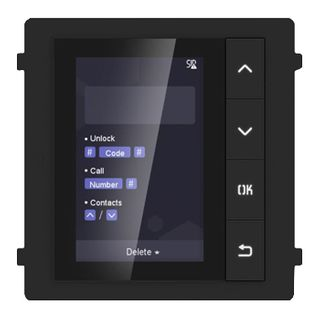 "HIKVISION, Intercom, Gen 2, Display module, 3.5"" LCD display, 320x480 resolution, 4 Buttons, RS-485 communication, IP65,"