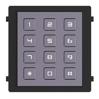 HIKVISION, Intercom, Gen 2, Keypad module, Pin to open door, Backlight, RS-485 communication, IP65,