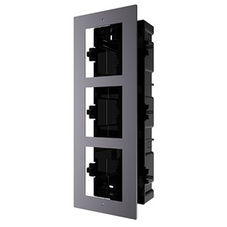 HIKVISION, Intercom, Gen 2, 3 Module, Flush mount frame, fits 3 modules, Plastic backbox, with accessories, box 338.8x134x56mm,