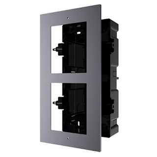 HIKVISION, Intercom, Gen 2, 2 Module, Flush mount frame, fits 2 modules, Plastic backbox, with accessories, box 237x134x56mm,