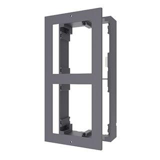 HIKVISION, Intercom, Gen 2, 2 Module, Surface mount enclosure, fits 2 modules, Aluminium, with accessories, box 219x107x32.7mm,
