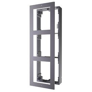 HIKVISION, Intercom, Gen 2, 3 Module, Surface mount enclosure, fits 3 modules, Aluminium, with accessories, box 219x107x32.7mm,