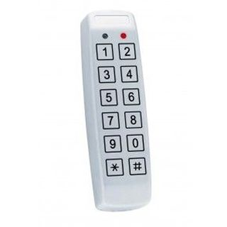 ROSSLARE, Keypad, Anti Vandal Mullion Piezoelectric, 500 users, 6x2, standalone, 2 outputs, 12 /24VDC or 16/24VAC, 90mA
