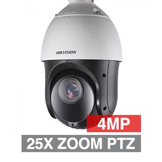 "HIKVISION, HD-IP Outdoor PTZ camera, 100m IR, 25x Zoom (4.8 - 120mm lens), 4.0MP/Full HD 1080p, 1/2.8"" CMOS, 0.005Lux (sens-up), H.265/H.265+, IP66, 12V DC/POE+"