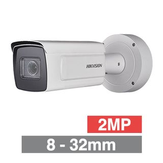 "HIKVISION, 2MP ANPR Bullet camera, White, 8-32mm zoom lens, 100m IR, 50fps, 120dB WDR, Day/Night (ICR), 1/1.8"" CMOS, H.264, IP67, 12V DC/PoE"
