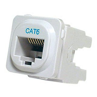 DATAMASTER 'Clipsal' Keystone Jack, RJ45, 8P non-Punchdown key, CAT6 (T568B), suits Clipsal plates,