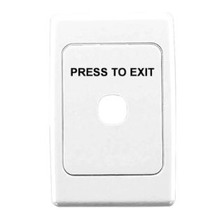 CLIPSAL, 2000 Series, Wall switch plate, Labelled 'Press to Exit', Single gang, White,