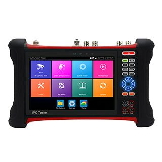 "ULTRA, UHD IPC Test monitor, 7"" retina HD touch screen, 4K HD-IP (ONVIF, Hik, Dahua, etc), H.264/H.265, IP discovery, RSTP, 5MP AHD, 8MP TVI, 4K EX-SDI, HDMI input, Analogue, Wi-Fi connection, RJ-45,"