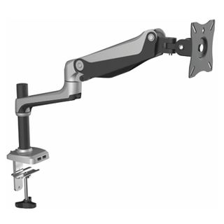 "ULTRA, Gas Assist, Monitor bracket, Articulated arm, Desk mount, Polished, Suits LCD from 12"" (30cm) - 27"" (67.5cm), 9kg holding force, With desk clamp & bolt through options,"