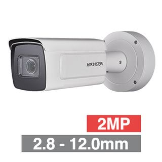 "HIKVISION, 2MP ANPR Bullet camera, White, 2.8-12mm zoom lens, 100m IR, 50fps, 120dB WDR, Day/Night (ICR), 1/1.8"" CMOS, H.264, IP67, 12V DC/PoE"
