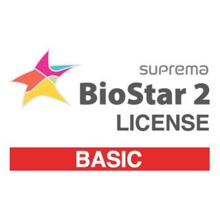 SUPREMA, BioStar 2 Basic license from V2.6, IP Fingerprint and RFID reader control software, Web Browser based programming, 20 Doors, No Cloud or Lift, Time & Attendance option, expandable,