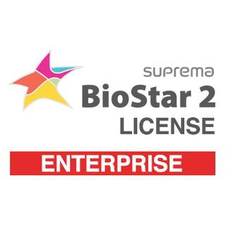 SUPREMA, BioStar 2 Enterprise license from V2.6, IP Fingerprint and RFID reader control software, Web Browser based programming, 1000 Doors, Cloud access, Lift control, Time & Attendance option,