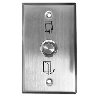 ULTRA ACCESS, Switch plate, Wall, Labelled with Exit Symbols, Stainless steel, With stainless steel illuminated push button, N/O and N/C contacts,