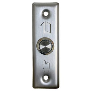 ULTRA ACCESS, Switch plate, Wall, Architrave, Stainless steel, Labelled with Exit Symbols, With stainless steel illuminated push button, N/O and N/C contacts,