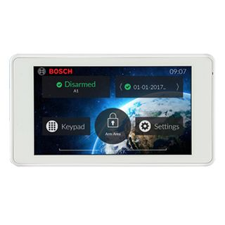 """BOSCH, Solution Series 5"""" Touch Screen, Graphic LCD, White, Touch to arm feature, Suits Solution 2000 & 3000 panels"""