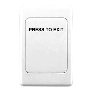 CLIPSAL, 2000 Series, Wall switch plate, Labelled 'Press to Exit', Blank, White,