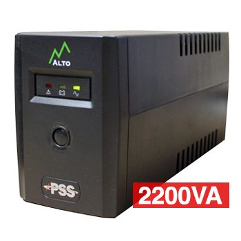 PSS, Alto Series, 2200 VA True line interactive UPS, Power filtering (lightning and surge protection), short circuit/overload protection, power management software,