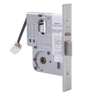 LOCKWOOD, Electric Mortice Lock, Monitored, Primary lock, Fail safe/fail secure, 60mm backset, No cylinder, Satin chrome, 12- 24v DC,