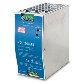 NETDIGITAL, Power supply, 240 Watt, Din rail mount, 48V DC,