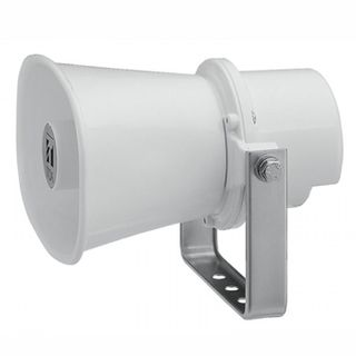 TOA, Reflex horn speaker, 10W, Aluminium off white powder coat, Weather resistant, IP65 rated, With stainless steel bracket, 8 ohm input impedance,