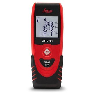 LEICA, Disto D1, Laser distance meter, 0.2mm to 40m measuring range, Illuminated 3 line display, Suits Disto Sketch APP,