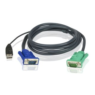 ATEN, KVM cable, SPHD15M - USB, HD15M, 2mt,