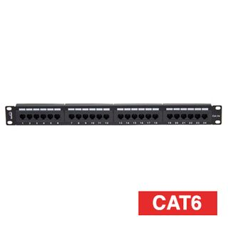 XTENDR, Patch panel, 24 port, Cat6, 568A and B wiring,