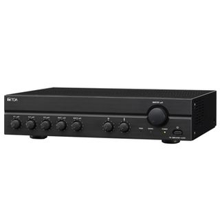 TOA, Class D Mixer power amplifier, 240W RMS, 100V line output only, 3 balanced mic inputs, 2 unbalanced aux inputs, Mic 1 VOX, 240V AC,