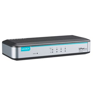 MOXA 4-port RS-232-M USB-to-serial converter, 12 to 48 VDC,