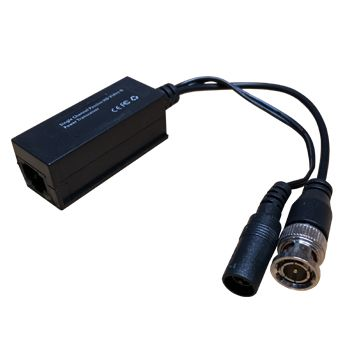 XTENDR, Balun, Power and HD analogue, suits AHD, HD-CVI and HD-TVI signal, 720p at 300m, 1080p at 200m, Wall mountable, Built-in power converter, BNC male and 2.1mm DC on tail, RJ45 socket, Passive,