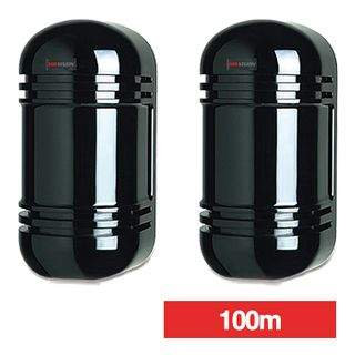 HIKVISION, Photoelectric beam, Standard twin beams, 100m (outdoor) range, Frost and dew protection, Clear viewfinder alignment, N/O, N/C contacts, 10-28V DC, 55mA,
