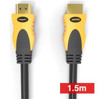 XTENDR, HDMI 2.0 interface lead, 1.5m, Gold plated Oxygen Free connector, 4K video with Audio return channel(ARC), 1.5m cable length, 48 Bit colour depth, 18Gbps/600MHz, 2160p,
