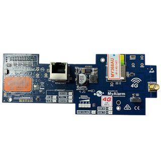 DIGIFLEX, 4G GPRS / IP interface module, Dual SIM + RJ45 connection, CAT1 equivalent,  includes Antenna, Suits Solution 6000, requires MyAlarm SIM subscription.