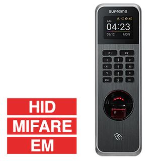 SUPREMA, BioLite N2, IP Fingerprint, T&A and RFID reader, Up to 20,000 fingerprints (10,000 users), TCP/IP, Wiegand, RS485, Relay, Anti tamper, EM, Mifare, HID, BLE compatible, 12V DC,