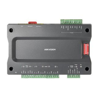 HIKVISION, Master Elevator controller, up to 128 floors, TCP/IP and RS-485, 2x Wiegand or RS-485 readers, 4x door outputs, 4x alarm outputs,