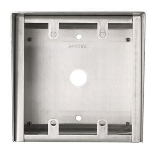 AIPHONE, Surface mount box, stainless steel, for 2 gang sub stations, suits IEJA, IESS, LEDA & others