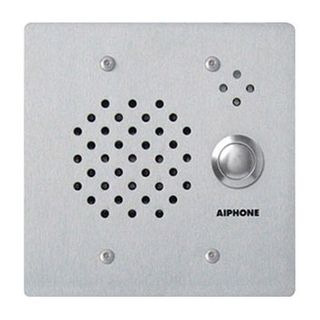 AIPHONE, IE Series, Door station, Audio, Stainless steel, Flush mount, Vandal resistant, Weather Proof, 12 gauge plate with intrusion protection,