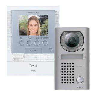 AIPHONE, JF Series, Video intercom kit, Colour, Hands free, With video memory, Includes 1 x JFDV, 1 x JF2MED, 1 x Power Supply, Surface mount vandal resistant door station,