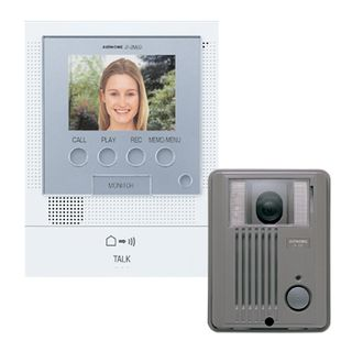 AIPHONE, JF Series, Video intercom kit, Colour, Hands free, With video memory, Includes 1 x JFDA, 1 x JF2MED, 1 x Power Supply, Surface mount plastic door station,