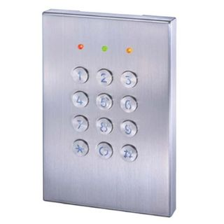 GEM, Keypad/ BLE Reader, Up to 1000 users, Standalone PIN code or Bluetooth operation, Up to 10m read range, 5A relay outputs, Metal, Backlit keys, 12-24V DC