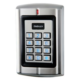 SEBURY, Keypad/Reader, Up to 20000 users, Standalone or 26 Bit Wiegand input/output, 2x relay outputs, HID compatible, Metal,Vandal/corrosion resistant,IP68,Backlit keys,Keypad FC=0-255,10-28V AC/DC