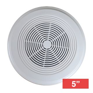 """CMX, 5"""" Dual cone surface speaker, Surface mount, White, 15W, 5.25"""" (130mm) woofer, Simple screw mount, 110-15KHz response, 100V line (Taps at 7.5,15W),"""