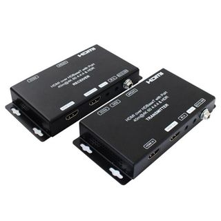 XTENDR, HDMI Extender, 4K @70m, 1080P @ 100m over single Cat6, HDMI loop out TX, Dual HDMI out RX, 18Gbps, HDR10, HDCP2.2,1.4, Dual POC, Bi-direction IR, 5V DC,